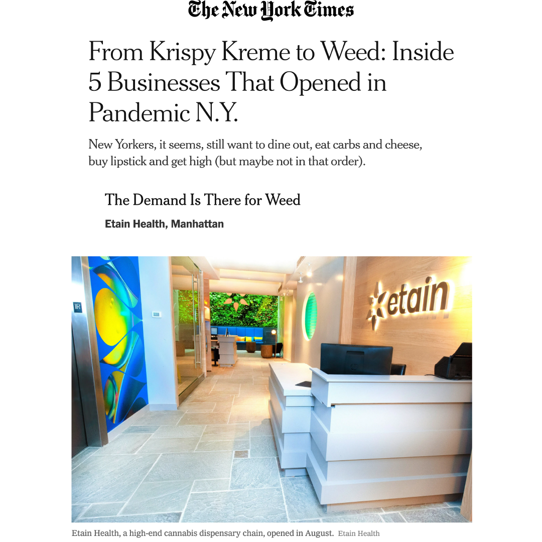 Image of Etain's New York dispensary in the new york times