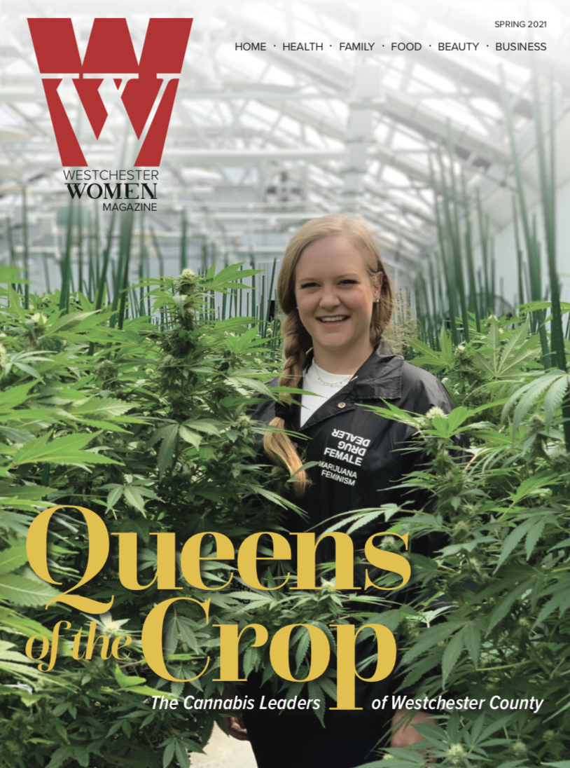 Etain on magazine cover of Westchester Women
